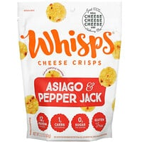 Whisps, Asiago & Pepper Jack Cheese Crisps, 2.12 oz ( 60 g)