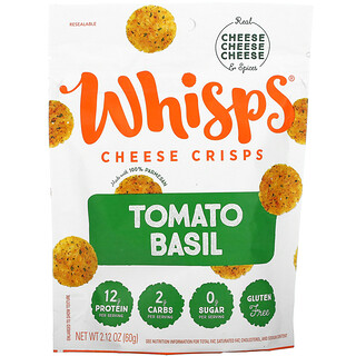 Whisps, Tomato Basil Cheese Crisps, 2.12 oz ( 60 g)