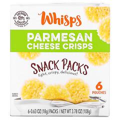 Whisps, 帕馬森乳酪脆片套裝,6 袋裝,0.63 盎司(18 克)/袋