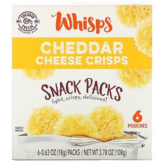 Whisps, 切達乾酪脆片套裝,6 袋裝,0.63 盎司(18 克)/ 袋