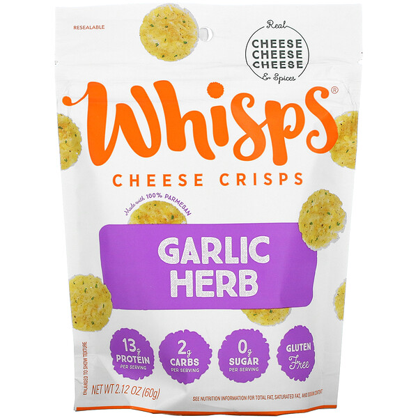 Garlic Herb Cheese Crisps, 2.12 oz ( 60 g)
