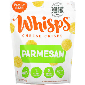 Whisps, Parmesan Cheese Crisps, Family Size, 6 oz ( 170 g)
