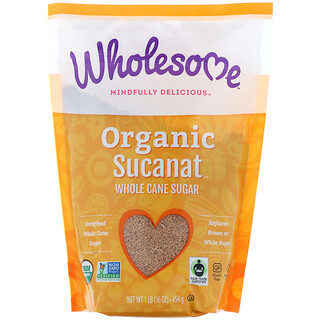 Wholesome Sweeteners, Inc., Organic Sucanat, Whole Cane Sugar, 16 oz (454 g)