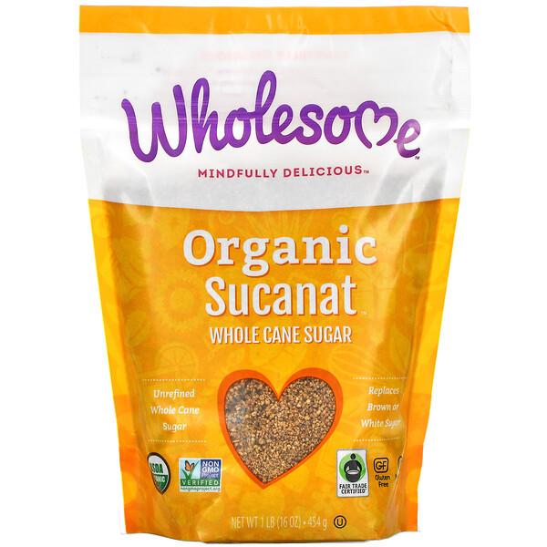 Organic Sucanat, Whole Cane Sugar, 16 oz (454 g)