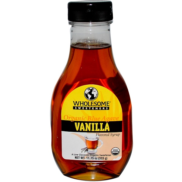 Wholesome , Organic Blue Agave Vanilla Flavored Syrup, 11.75 oz (333 g) (Discontinued Item)
