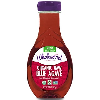 Wholesome Sweeteners, Inc., Organic Raw Blue Agave, 11.75 oz (333 g)