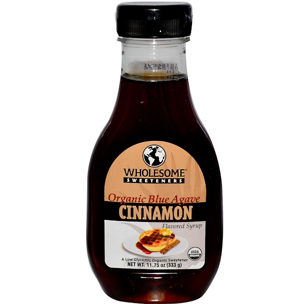 Wholesome Sweeteners, Inc., Organic Blue Agave Syrup, Cinnamon, 11.75 oz (333 g) (Discontinued Item)