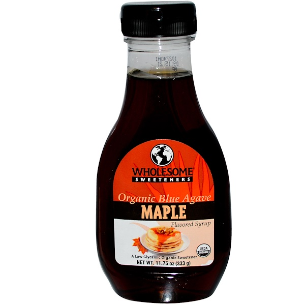 Wholesome , Organic Blue Agave, Maple, 11.75 oz (333 g) (Discontinued Item)