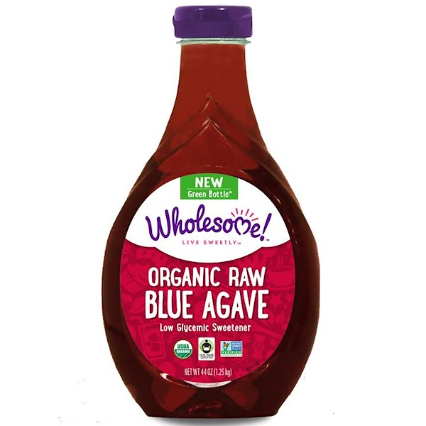Wholesome Sweeteners, Inc., Organic Raw Blue Agave, 44 oz (1.25 kg)