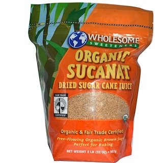 Wholesome Sweeteners, Inc., Organic Sucanat、Dehydrated Cane Juice、32 oz (907 g)