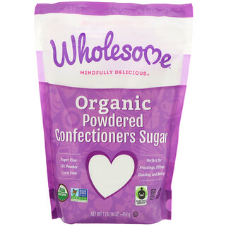 Wholesome Sweeteners, Inc., Organic Powdered Confectioners Sugar, 16 oz (454 g)