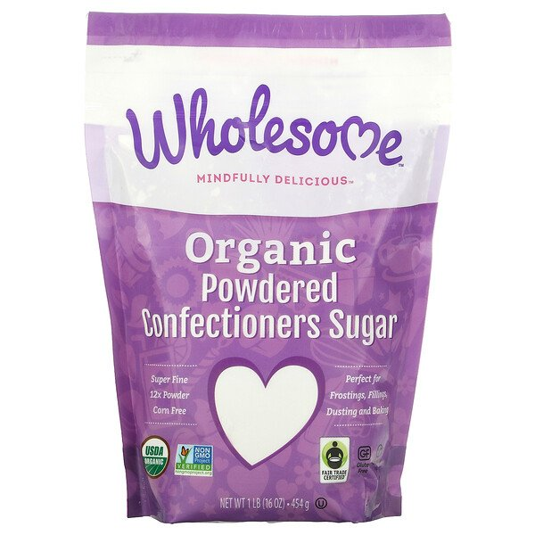 Organic Powdered Confectioners Sugar, 1 lb (454 g)