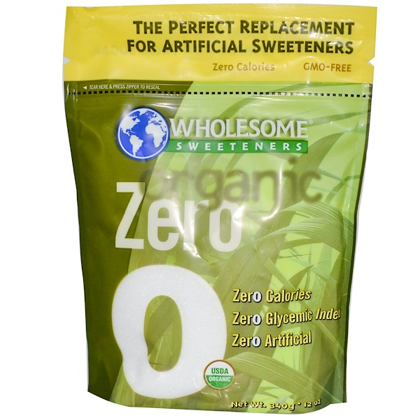 Wholesome Sweeteners, Inc., Organic Zero, Erythritol, 12 oz (340 g) (Discontinued Item)