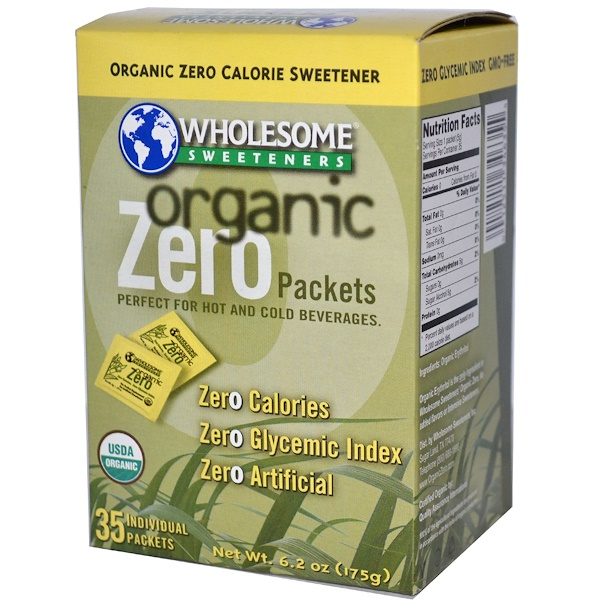 Wholesome Sweeteners, Inc., Organic Zero, Erythritol, 35 Packets, 5 g Each (Discontinued Item)