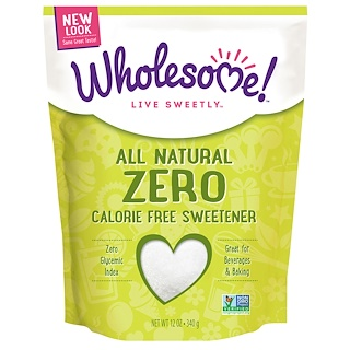 Wholesome Sweeteners, Inc., All Natural Zero Calorie Free Sweetener, 12 oz (340 g)