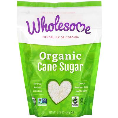 Купить Wholesome Organic Cane Sugar, 1 lb (454 g)