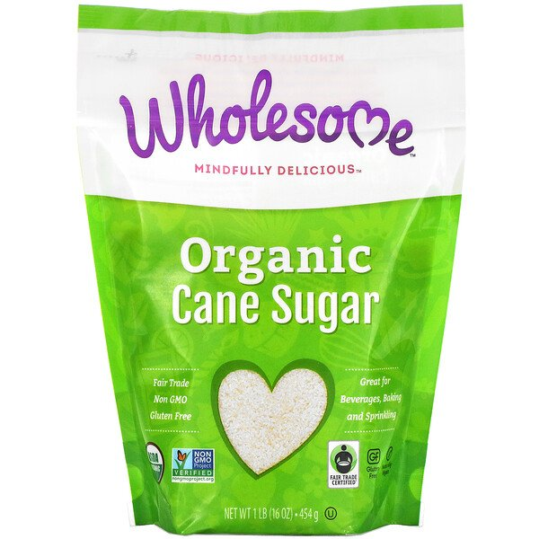 Wholesome, Organic Cane Sugar, 1 lb (454 g)