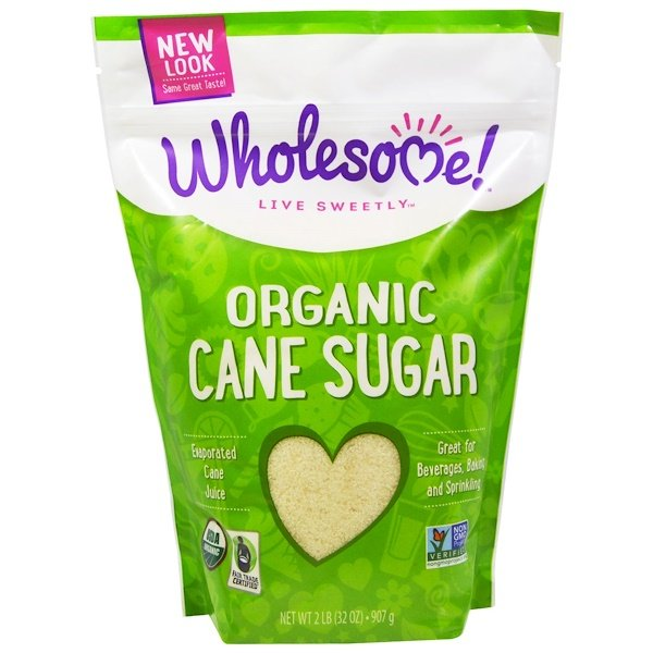 Wholesome Sweeteners, Inc., Organic Cane Sugar, 2 lbs. (32 oz) - 907 g
