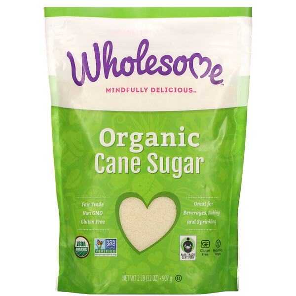 Wholesome, Organic Cane Sugar, 2 lb (907 g)