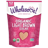 Органический легкий коричневый сахар, 1.5 фунта (680 г) - фото