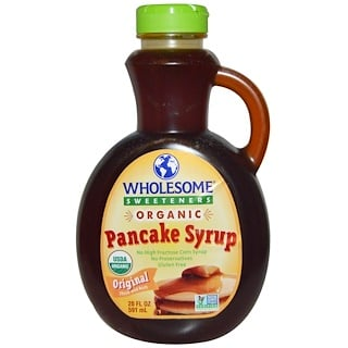 Wholesome Sweeteners, Inc., Organic Pancakes Syrup, Original Thick and Rich, 20 fl oz (591 ml)