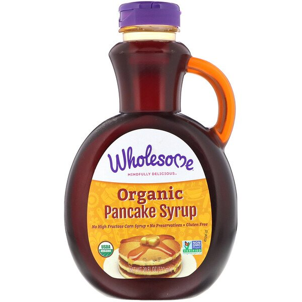 Wholesome , Organic Pancake Syrup, 20 fl oz (591 ml) (Discontinued Item)