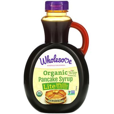 Купить Wholesome Organic Pancake Syrup, Lite, 20 fl oz (591 ml)