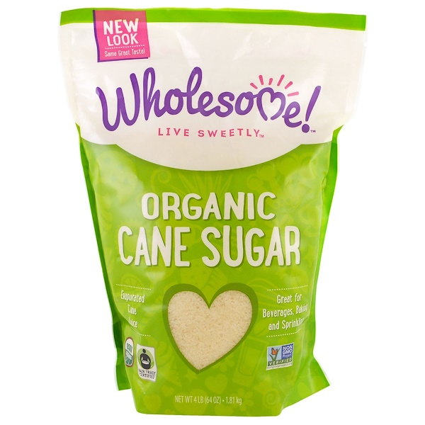 Wholesome Sweeteners, Inc、, 有機蔗糖,4 lbs (1、81 kg)