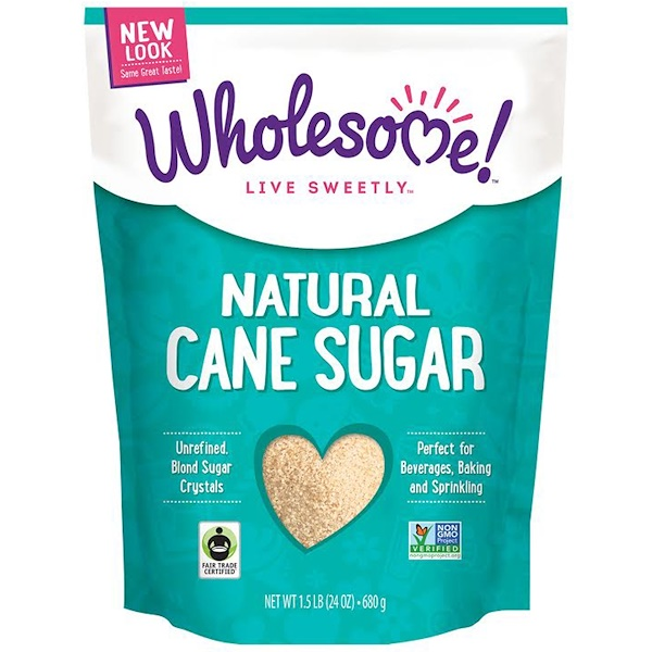 Wholesome Sweeteners, Inc., Natural Cane Sugar, 1.5 lbs (24 oz.) - 680 g (Discontinued Item)