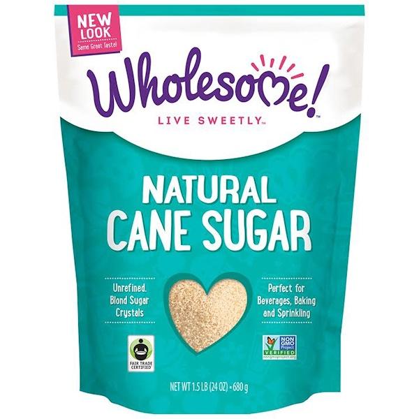 Wholesome Sweeteners, Inc.,  قصب السكر الطبيعي، 24 أوقية (680 غرام) (Discontinued Item)