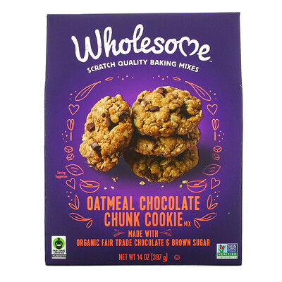 Wholesome Oatmeal Chocolate Chunk Cookie Mix, 14 oz (397 g)
