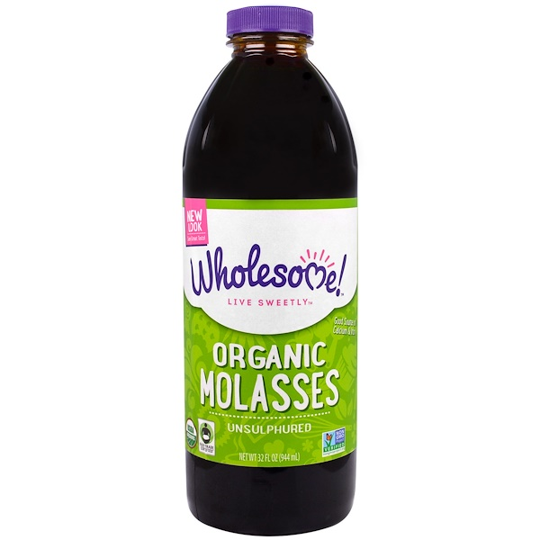 Wholesome Sweeteners, Inc., Organic Molasses, Unsulphured, 32 fl oz (944 ml)