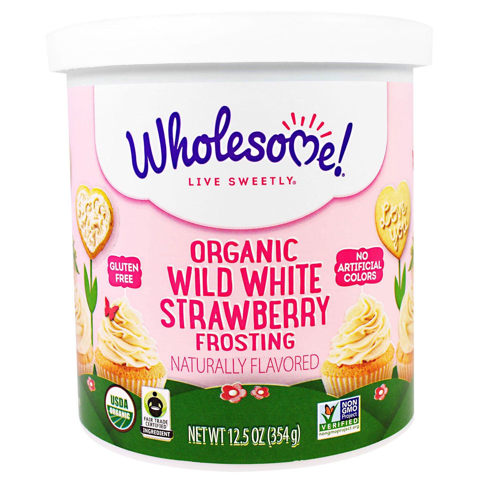 Wholesome Sweeteners, Inc., Органическая глазурь со вкусом дикой белой клубники, 12,5 унции (354 г)