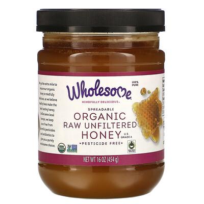 Купить Wholesome Органический сырой мед, 454 г (16 унций)