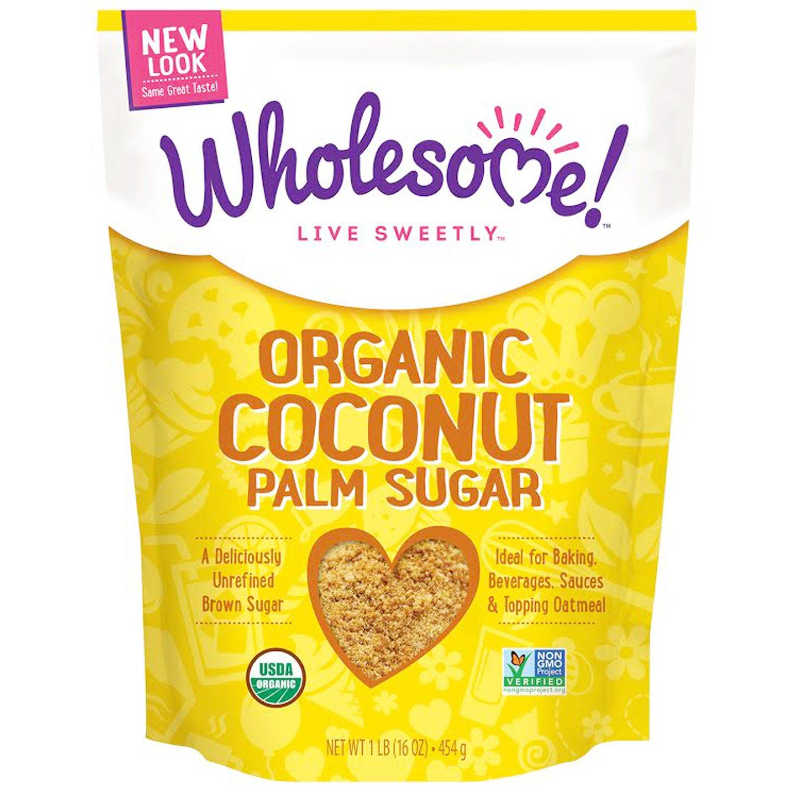 Wholesome Sweeteners, Inc., Органический сахар из кокосовой пальмы, 16 oz (454 г)