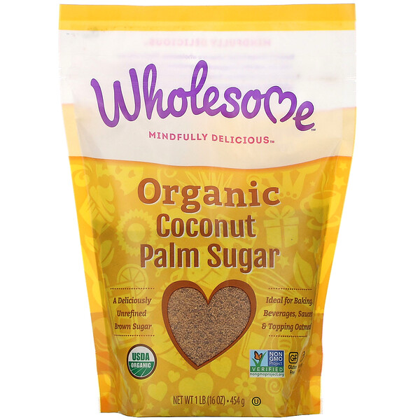 Wholesome, Organic Coconut Palm Sugar, 1 lb. (16 oz) - 454 g
