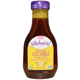 Wholesome Sweeteners, Inc., Organic Coconut Palm Syrup, 12 oz (340 g)