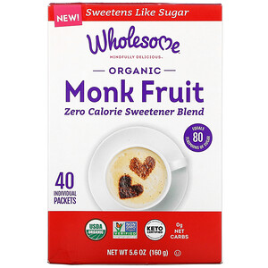 Wholesome, Organic Monk Fruit, 40 Individual Packets, 5.6 oz (160 g)
