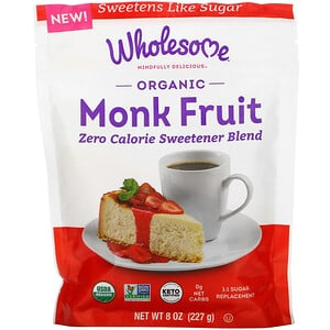 Wholesome, Organic Monk Fruit, 8 oz ( 227 g)