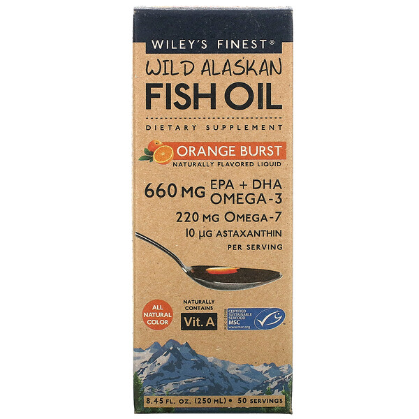 Wild Alaskan Fish Oil, Orange Burst, 8.45 fl oz (250 ml)