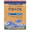 Wiley's Finest, Wiley最精細的野生阿拉斯加魚油,Peak EPA,1250 mg, 10粒魚油軟膠囊