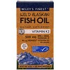 Wiley's Finest, Wild Alaskan Fish Oil, Vitamin K2, 60 Fish Oil Softgels