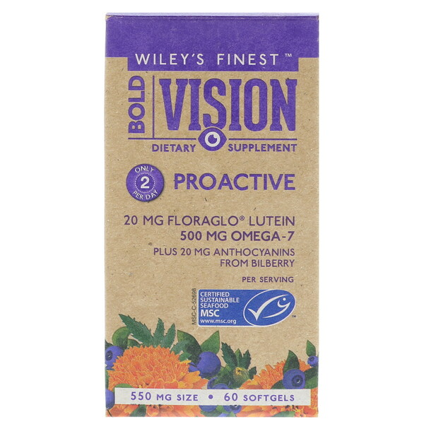 Wiley's Finest, Bold Vision, Proactive, 60 Softgels