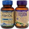 Wiley's Finest, ボールドビジョン、予防 & 天然アラスカンフィッシュオイル、ピークEPA、バリューパック、550 mg & 1250 mg、60ソフトジェル & 30ソフトジェル