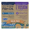 Wiley's Finest, Bold Vision, Proactive & Wild Alaskan Fish Oil, Peak EPA, Value Pack, 550 mg & 1250 mg, 60 Softgels & 30 Softgels