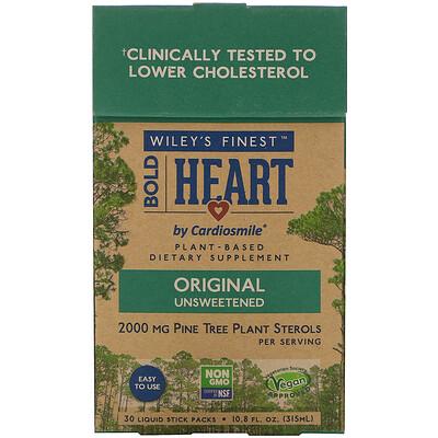 Купить Wiley's Finest Bold Heart by Cardiosmile, Original Unsweetened, 30 Liquid Stick Packs, 0.36 fl oz (10.5 ml) Each