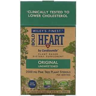 Wiley's Finest, Bold Heart by Cardiosmile, Original Unsweetened, 30 Liquid Stick Packs, 0.36 fl oz (10.5 ml) Each