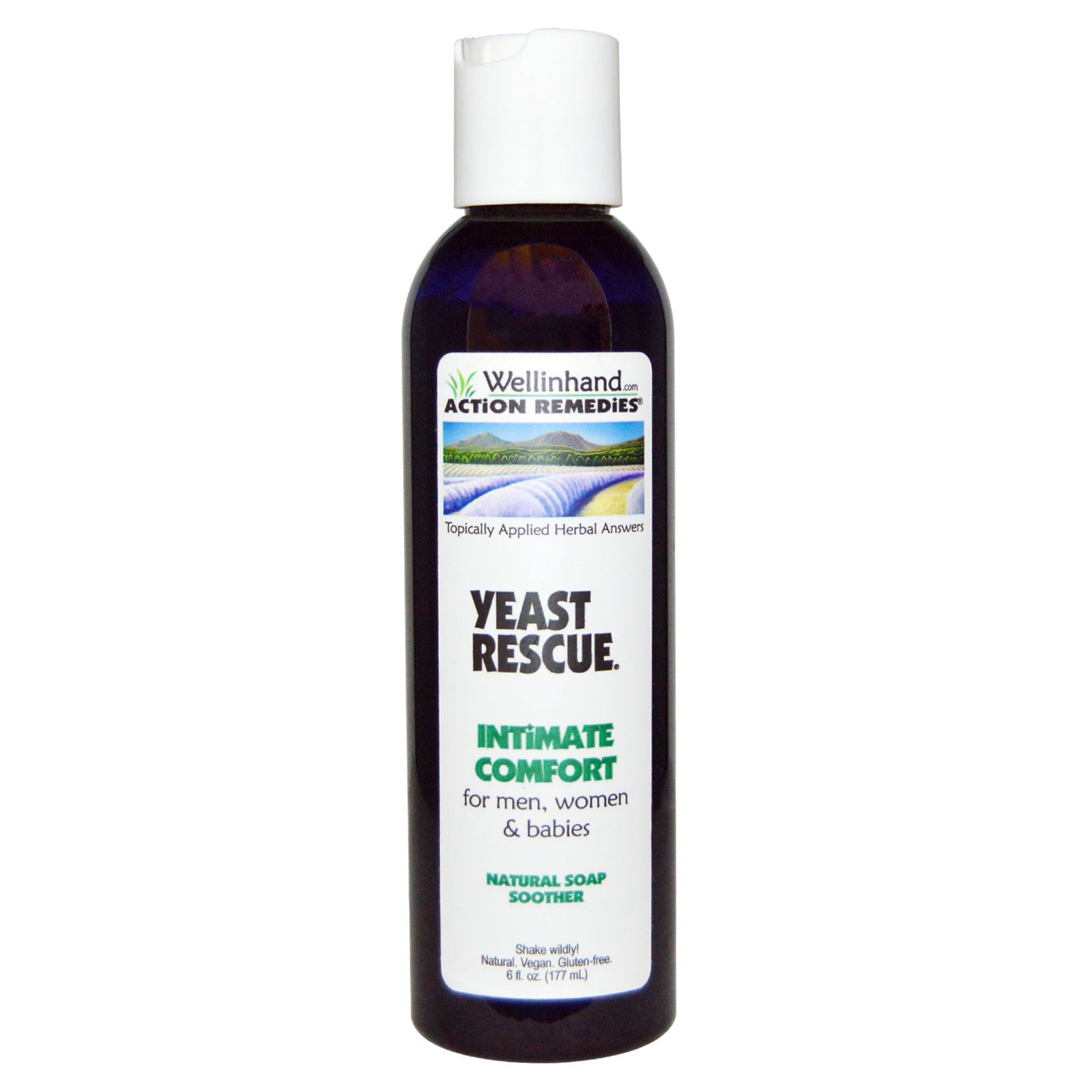 Wellinhand Action Remedies, Yeast Rescue, натуральное мыло, для мужчин, женщин и детей, 6 жидких унций (177 мл)