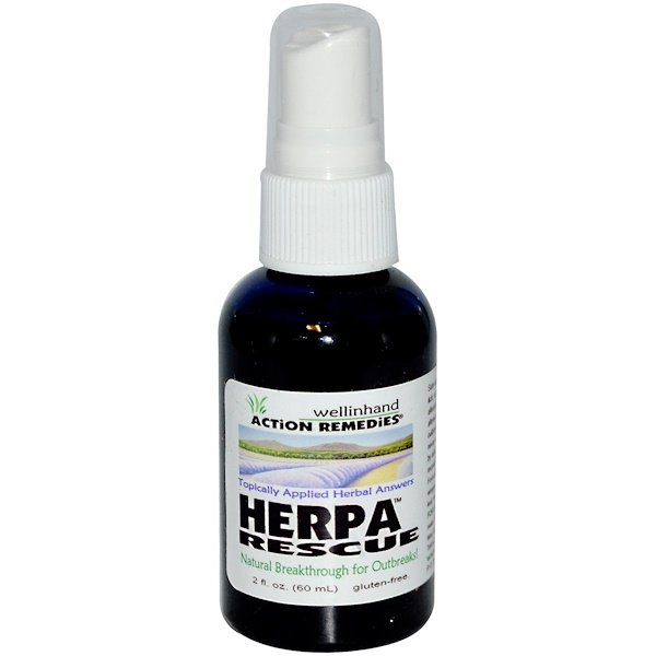 Wellinhand Action Remedies, Action Remedies, Herpa Rescue, 2 fl oz (60 ml) (Discontinued Item)