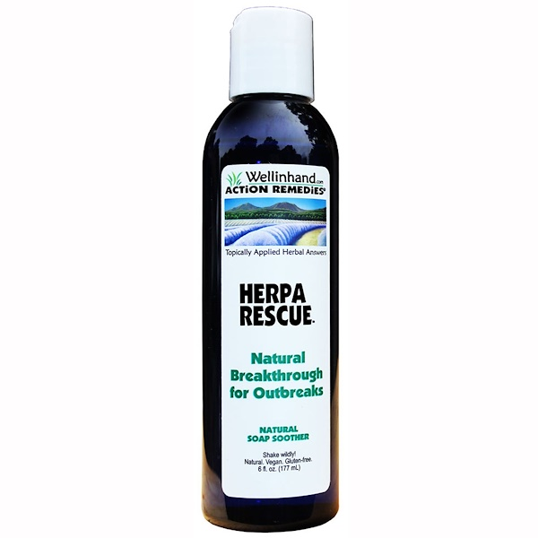 Wellinhand Action Remedies, Herpa Rescue, Natural Soap Soother, 6 fl oz (177 ml) (Discontinued Item)